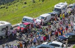 The Peloton in Mountains - Tour de France 2016 Stock Image