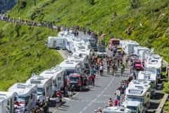 The Peloton in Mountains - Tour de France 2016 Royalty Free Stock Photos