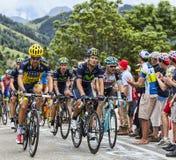 Peloton op Alpe d'Huez Royalty-vrije Stock Foto's