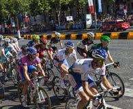 The Peloton in Paris Royalty Free Stock Photo
