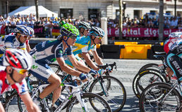 The Peloton in Paris Royalty Free Stock Images