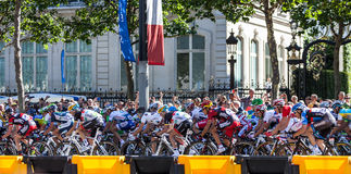 The Peloton in Paris stock photography