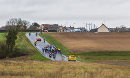 The Peloton - Paris-Nice 2017 royalty free stock image