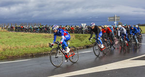 The Peloton - Paris-Nice 2017 royalty free stock images