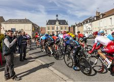 The Peloton - Paris-Nice 2019 stock photos