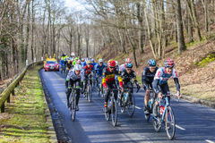 The Peloton - Paris-Nice 2017 Royalty Free Stock Photos