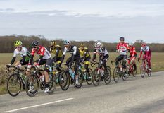 The Peloton - Paris-Nice 2018 royalty free stock images