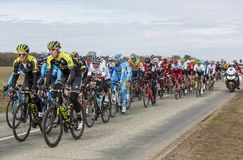 The Peloton - Paris-Nice 2018 stock images