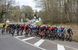 The Peloton - Paris-Nice 2019 royalty free stock images