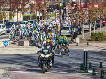 The Peloton- Paris Nice 2013 in Nemours Stock Photography