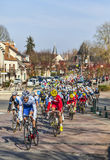 The Peloton- Paris Nice 2013 in Nemours Royalty Free Stock Photo