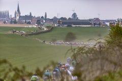 The Peloton - Paris-Roubaix 2019 stock photos