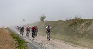 The Peloton - Paris-Roubaix 2019 stock photography