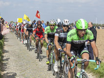 Peloton Paryski Roubaix 2014 Obrazy Royalty Free