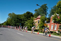 The Peloton racing stock photo