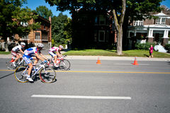 The Peloton racing Stock Photography