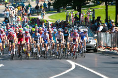 The Peloton racing Royalty Free Stock Photos