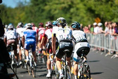 The Peloton racing Stock Photo