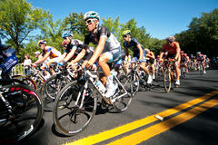 The Peloton racing Stock Image