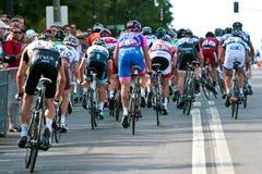 The Peloton racing Royalty Free Stock Image