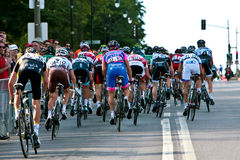 The Peloton racing Royalty Free Stock Images