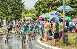 The Peloton in a Rainy Day Stock Images