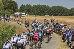 Peloton - tour de france 2018 Fotografia Royalty Free
