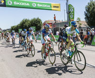 The Peloton - Tour de France 2015 Royalty Free Stock Images