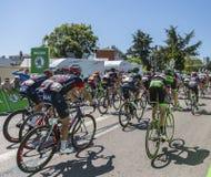 The Peloton - Tour de France 2015 Royalty Free Stock Photos