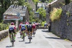 The Peloton - Tour de France 2018 Royalty Free Stock Image