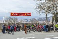 Peloton w Barcelona - Objeżdża De Catalunya 2016 Fotografia Royalty Free