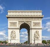 Peloton w Paryż - tour de france 2016 Obraz Royalty Free