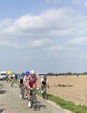 Pelotonen Paris Roubaix 2014 Arkivbilder