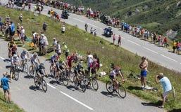Pelotonen - Tour de France 2018 Royaltyfri Fotografi