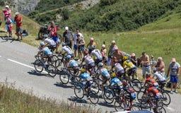 Pelotonen - Tour de France 2018 Arkivbild