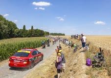Pelotonen - Tour de France 2018 royaltyfri foto