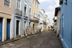 Pelourinho在萨尔瓦多da巴伊亚,巴西 库存图片