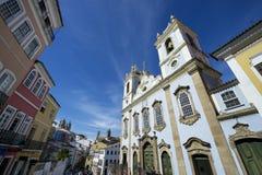Pelourinho萨尔瓦多巴西历史的市中心地平线 图库摄影
