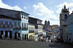 Pelourinho,萨尔瓦多,巴西看法  图库摄影