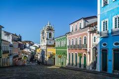 Pelourinho -萨尔瓦多,巴伊亚,巴西 图库摄影