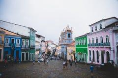 Pelourinho bei Salvador, Bahia, Brasilien stockfotografie