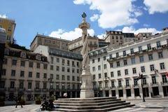 Pelourinho DA Praça do Municipio στη Λισσαβώνα Στοκ φωτογραφίες με δικαίωμα ελεύθερης χρήσης