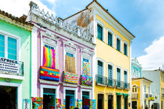 Pelourinho, the famous Historic Centre of Salvador, Bahia in Brazil Royalty Free Stock Photos