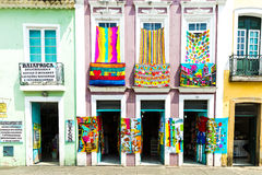 Pelourinho, the famous Historic Centre of Salvador, Bahia in Brazil Royalty Free Stock Photography