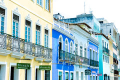 Pelourinho, the famous Historic Centre of Salvador, Bahia in Brazil Stock Image