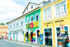 Pelourinho, the famous Historic Centre of Salvador, Bahia in Brazil Stock Photo