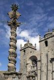 Pelourinho i Porto katedra - Obrazy Stock