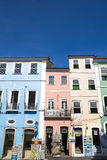 Pelourinho is one of the most famous places of Salvador for tour. Salvador, Brazil - October 26, 2016: Pelourinho is one of the most famous places of Salvador Royalty Free Stock Image