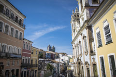 Pelourinho is one of the most famous places of Salvador for tour. Salvador, Brazil - October 26, 2016: Pelourinho is one of the most famous places of Salvador Stock Photography
