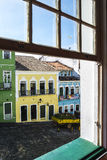 Pelourinho is one of the most famous places of Salvador for tour. Salvador, Brazil - October 26, 2016: Pelourinho is one of the most famous places of Salvador Royalty Free Stock Photos